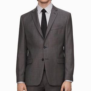 Calvin Klein Grey Slim Fit Pin Dot Jacket